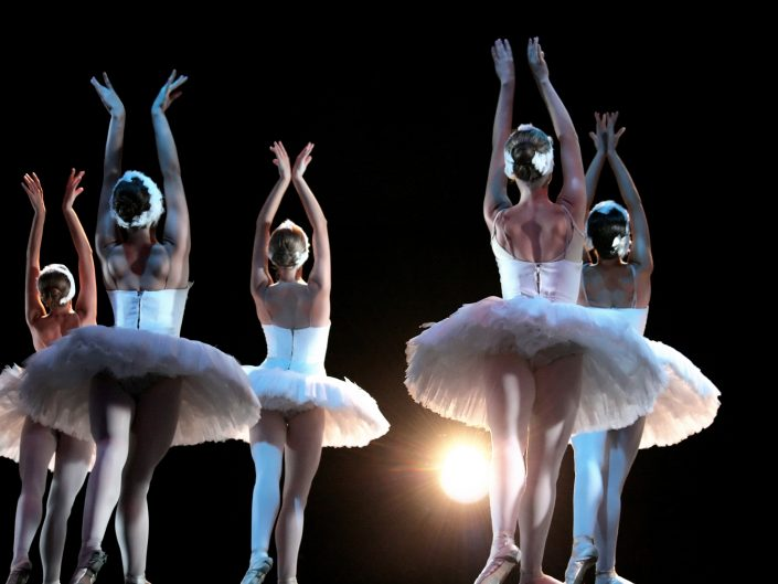 Ballet dancers on stage